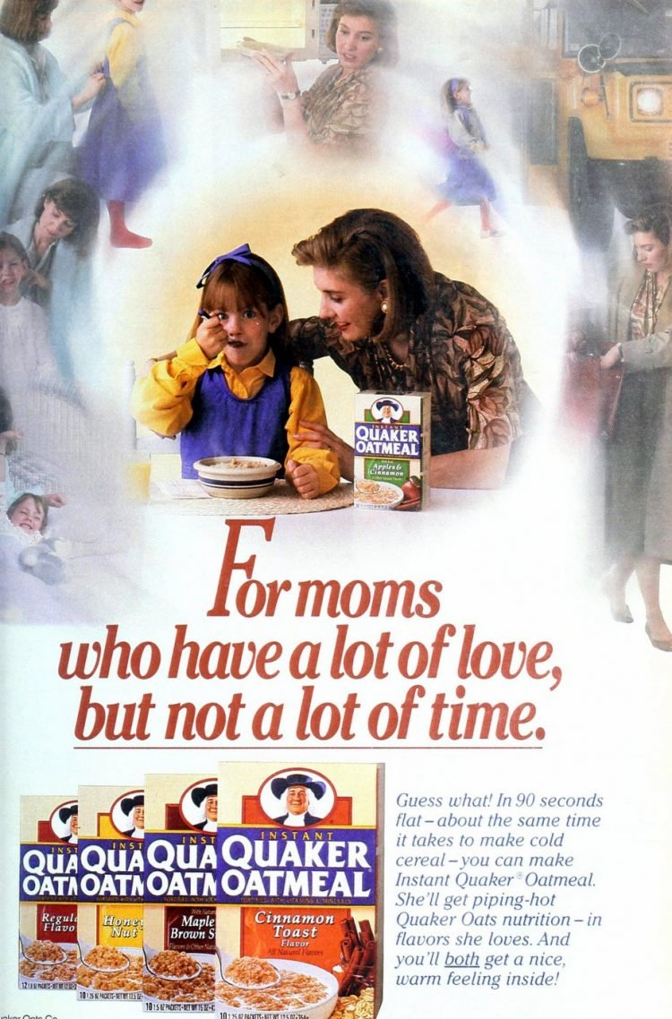 Instant Quaker Oatmeal flavors from 1993