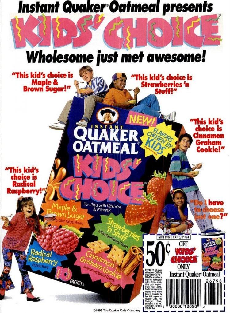 Instant Quaker Oatmeal presents Kids' Choice (1993)