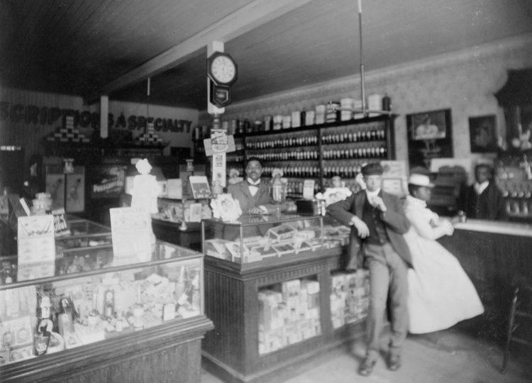 Interior of Dr McDougald's Drug Store - Georgia (1899)