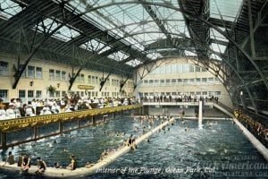 Interior of the Plunge, Ocean Park, California c1905