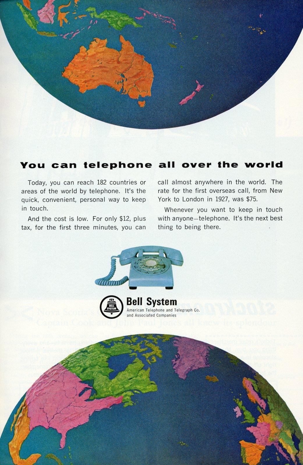 International phone calls (1965)