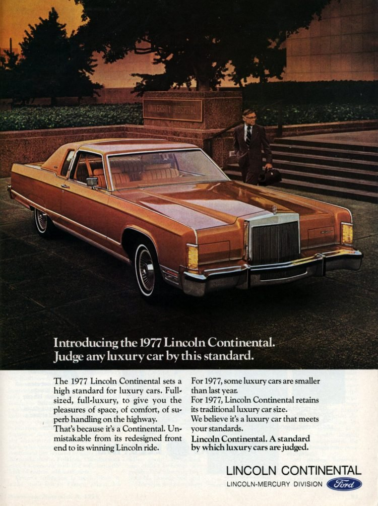Introducing 1977 Lincoln Continental by Ford