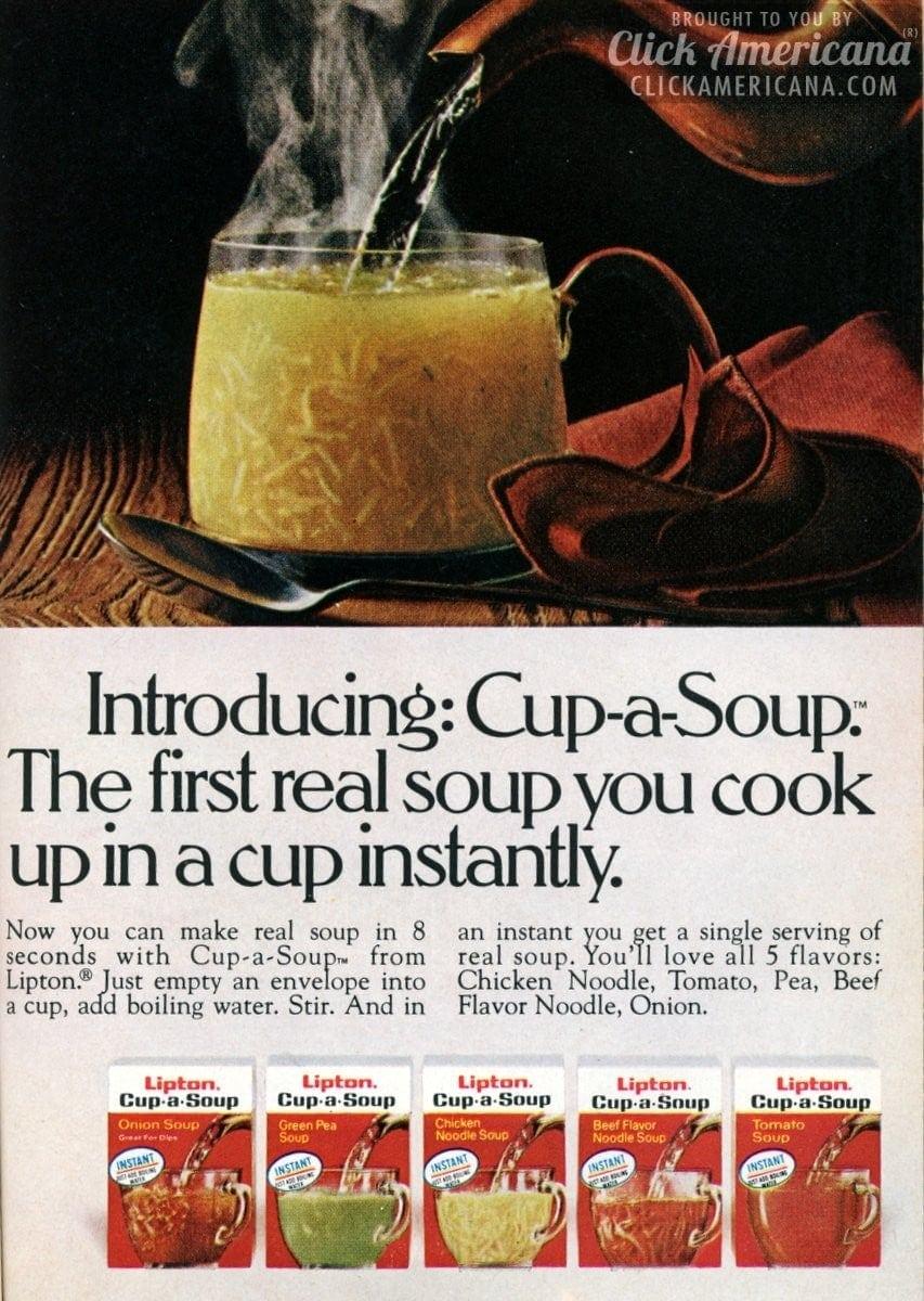 Introducing Cup A Soup 1972 Click Americana