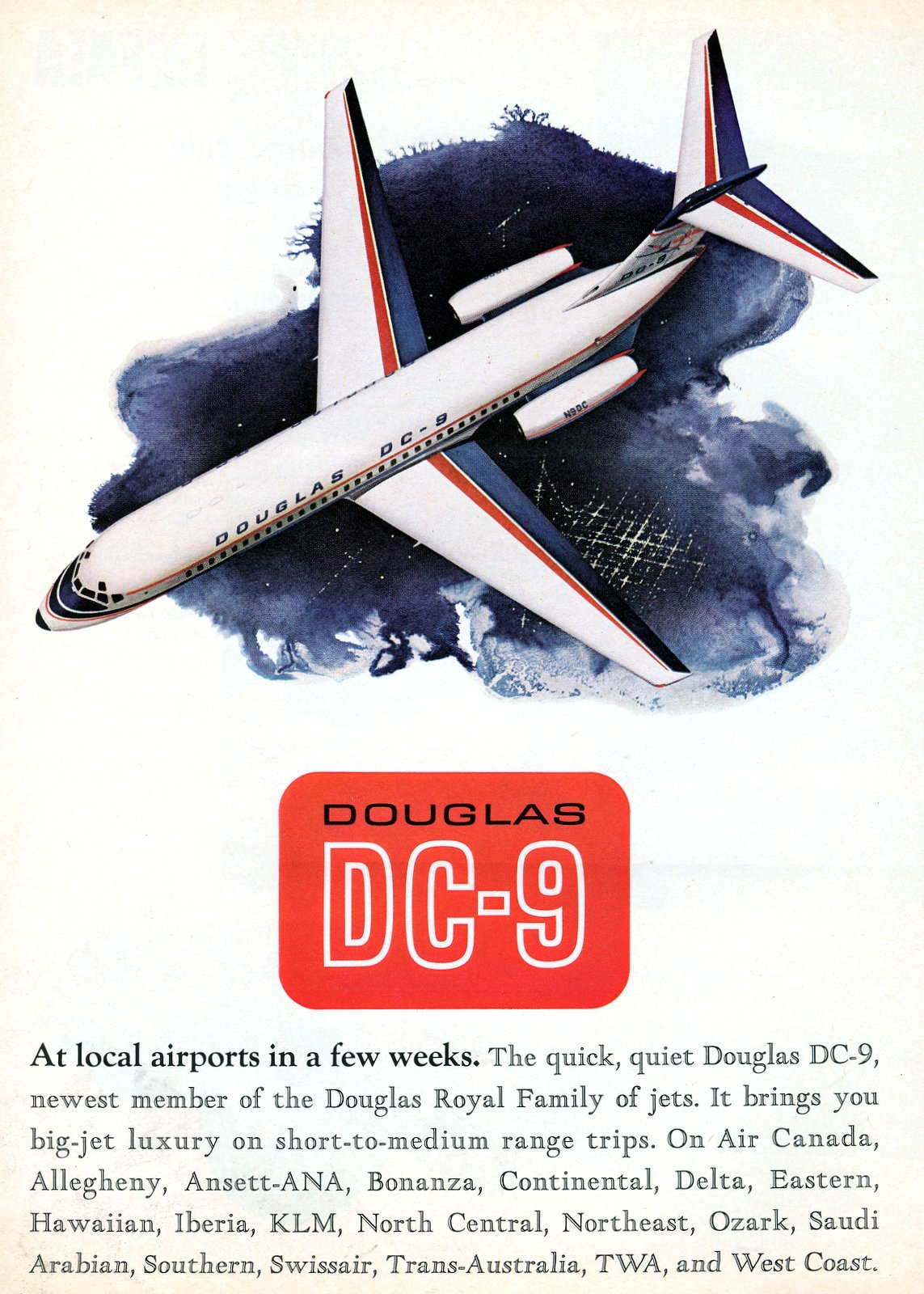 Introducing the Douglas DC-9 jet airplane - November 29, 1965