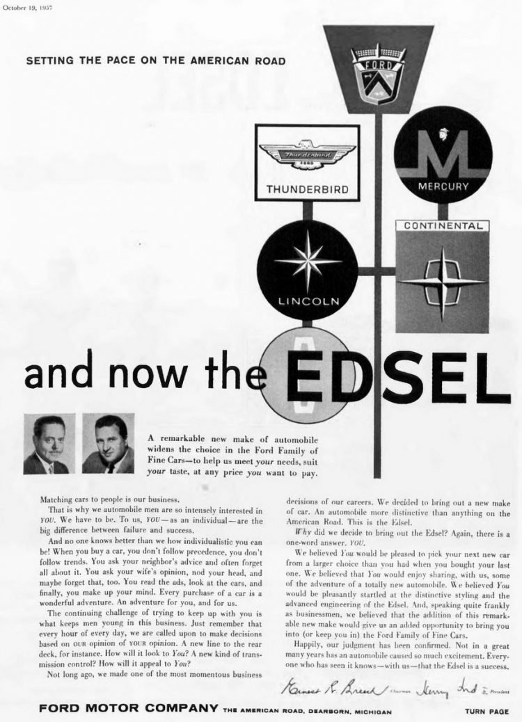 Introducing the Ford Edsel - October 1957