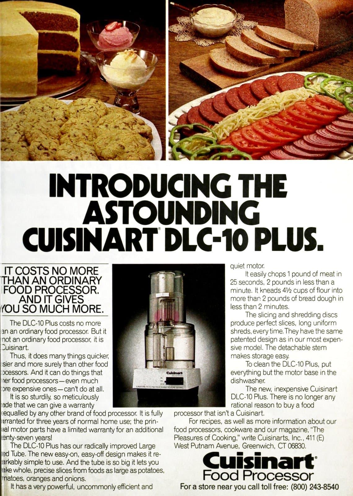 Introducing the astounding Cuisinart DLC-10 Plus (1984)