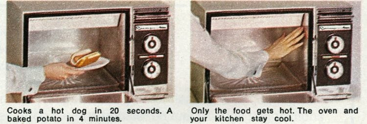 The fancy new microwave ovens - 1977