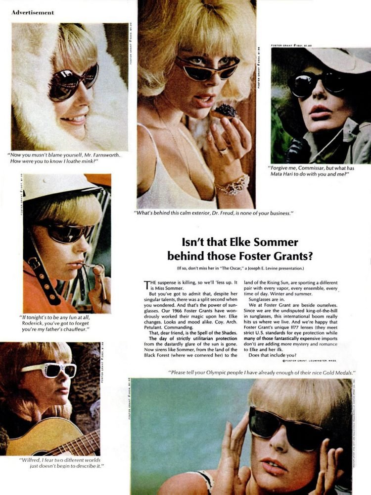 Isn't that Elke Sommer - Who's behind those Foster Grants (1966)