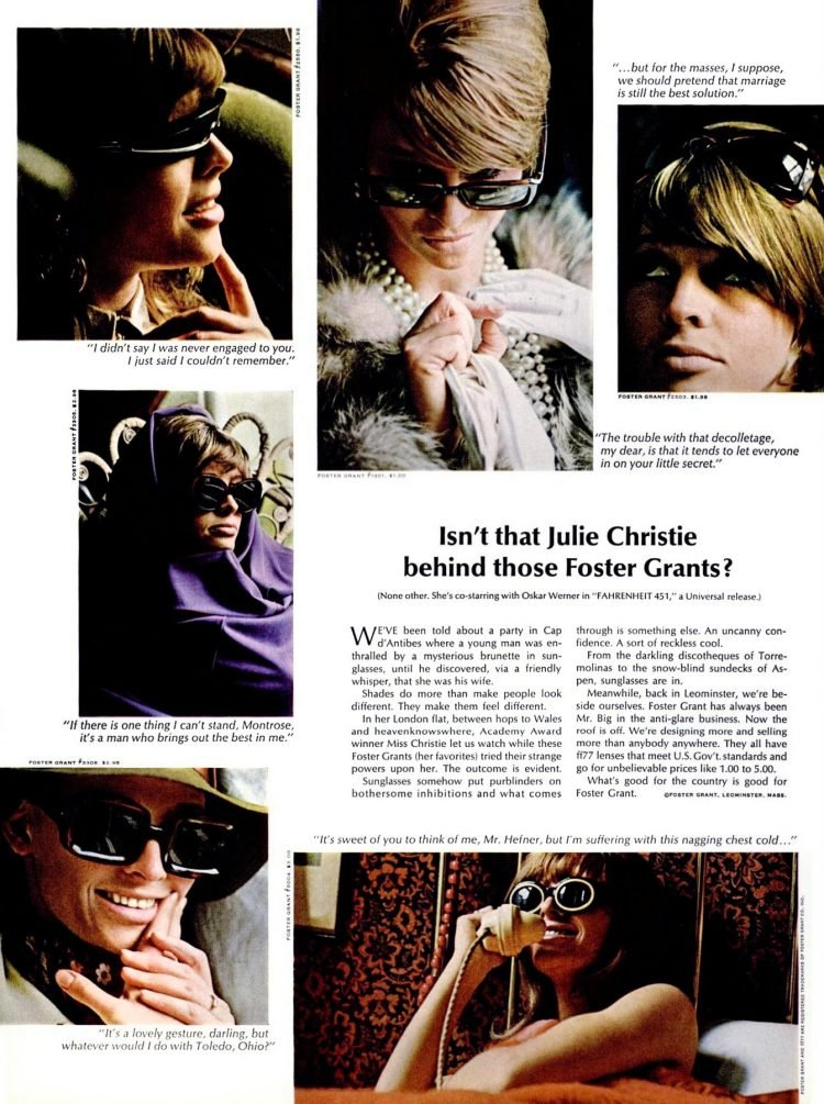 Isn't that Julie Christie behind those Foster Grants (1966)