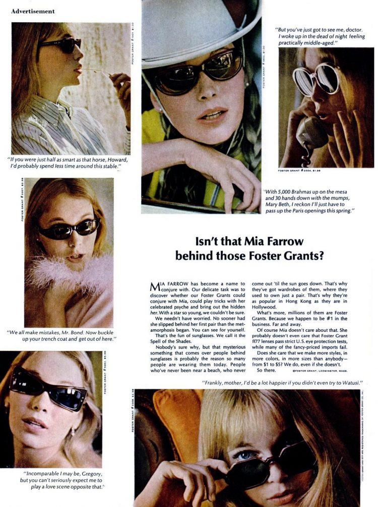Isn't that Mia Farrow behind those Foster Grants (1966)