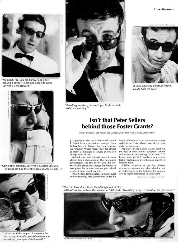 Isn't that Peter Sellers behind those Foster Grants (1965)