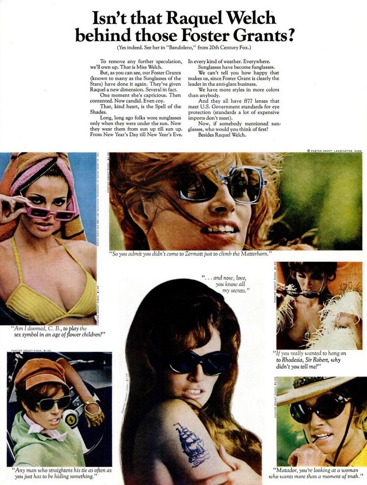 Isn't that Raquel Welch behind those Foster Grants sunglasses (1968)