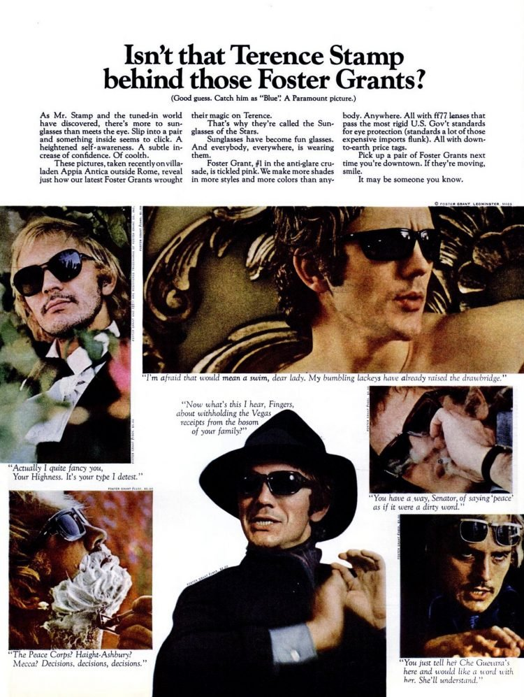 Isn't that Terence Stamp - Who's behind those Foster Grants (1968)