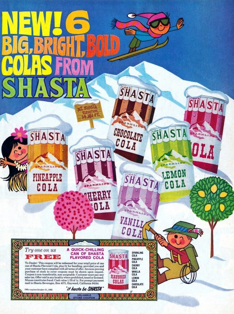 It hasta be Shasta - Soft drinks from 1966