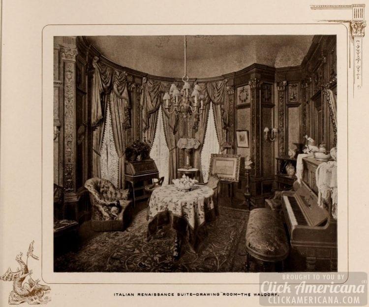 Italian Renaissance Suite - Drawing room - The Waldorf - 1903