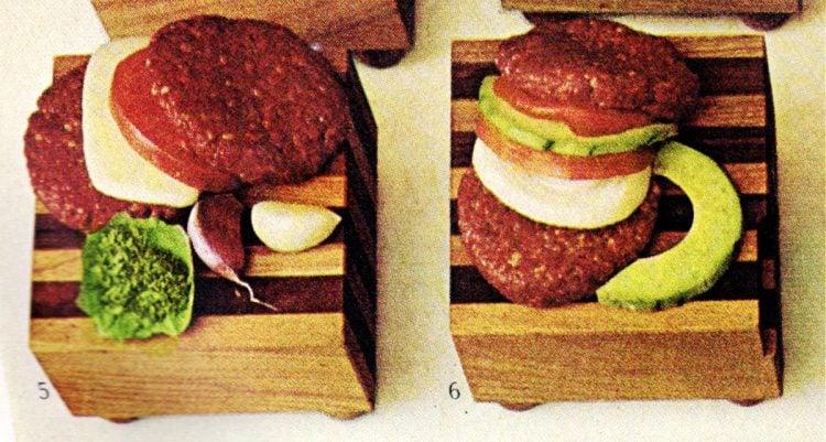 Italian burger and guacamole hamburger