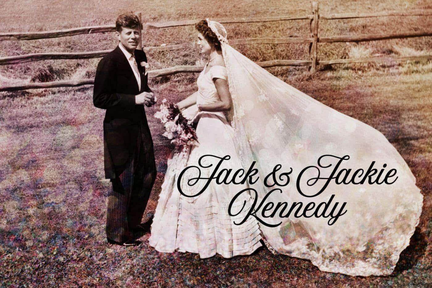 JFK Jacqueline - Jack and Jackie wedding 1953