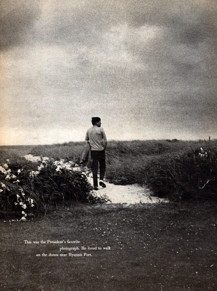 JFK walking the dunes
