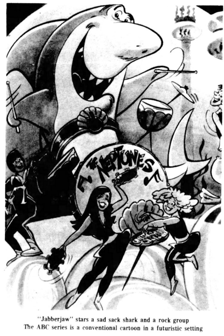 Jabberjaw the shark cartoon - 1976