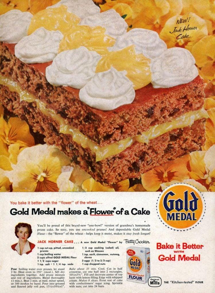 Jack Horner prune cake (1958)