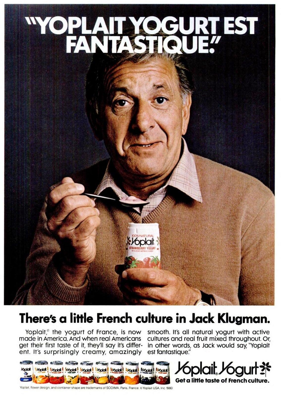 Jack Klugman vintage ad for Yoplait Yogurt (1981)