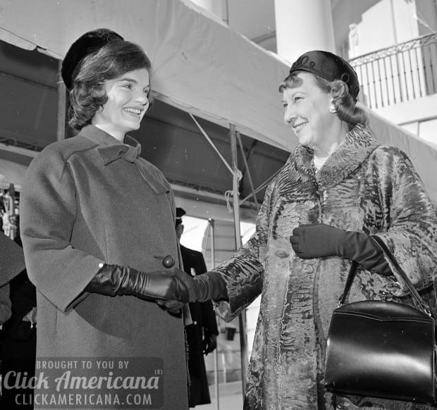 Jackie Kennedy Mamie Eisenhower First Lady-To-Be Visits White House