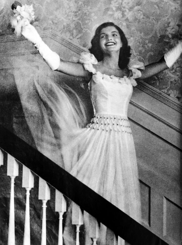 Jacqueline Kennedy as a joyful bride