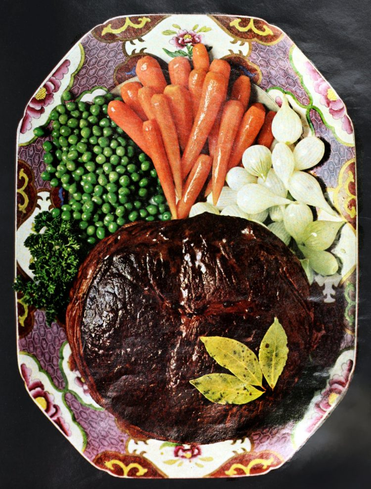 James Beard style delicious pot roast recipe from the 60s