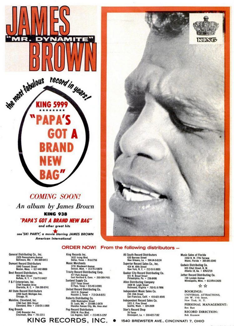 James Brown Papa's Got a Brand New Bag (1965)