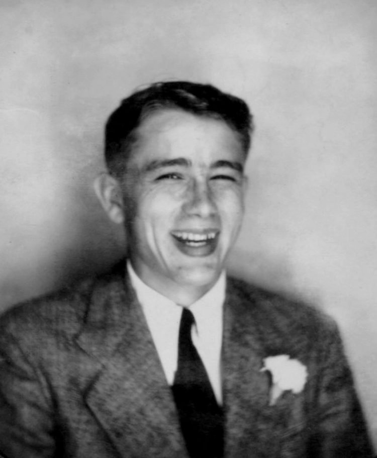 James Dean - Young formal portrait before he was famous - laughing