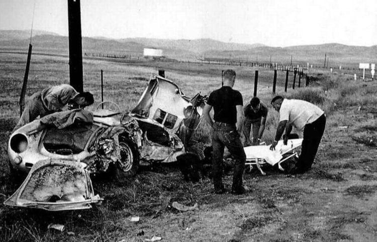 James Dean car crash - scene