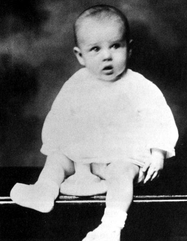 James Dean when he was a baby
