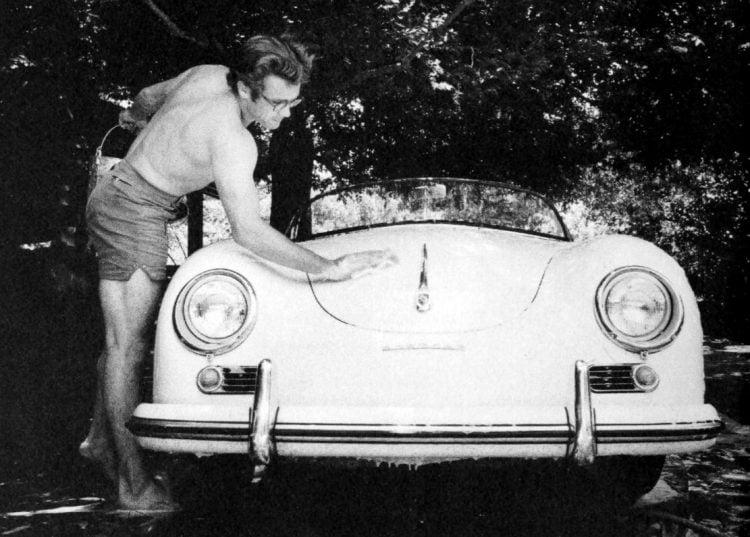 James Dean with his Porsche
