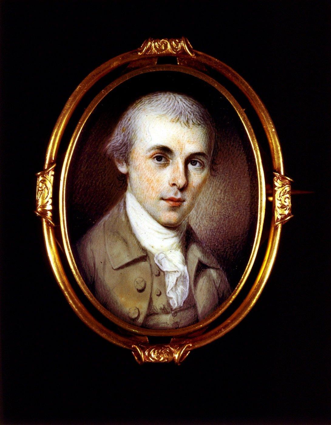 James Madison, bust portrait miniature 1700s