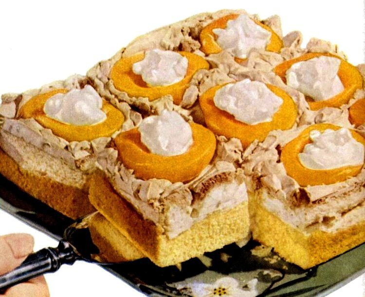 Peach meringue cake recipe