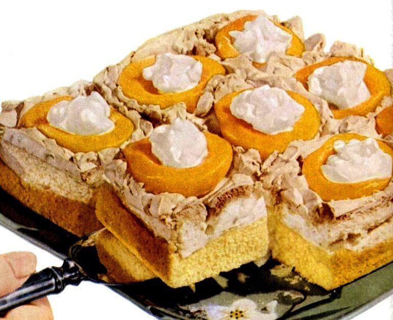 Jan 23, 1950 Peach meringue cake - food recipe