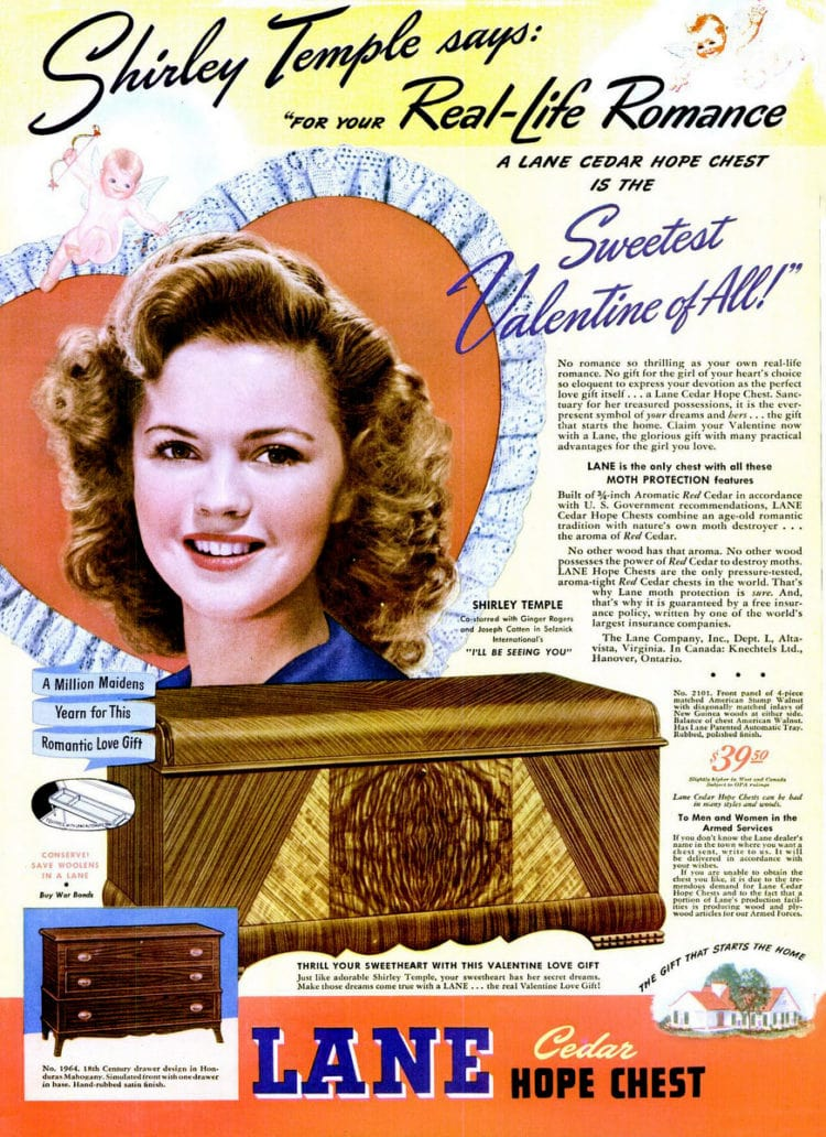 Jan 29, 1945 shirley temple hope chest