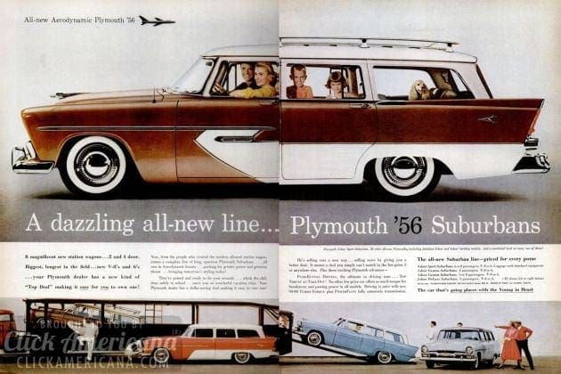 The new Plymouth '56 Suburbans (1956)
