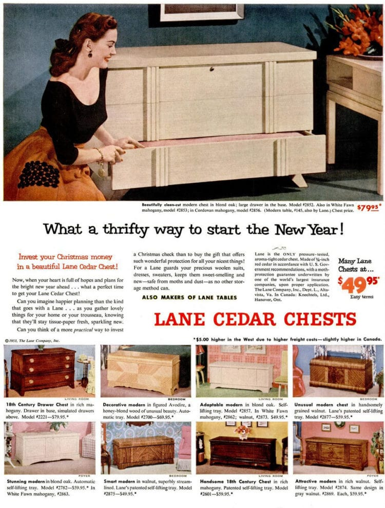 Jan 5, 1953 hope chest