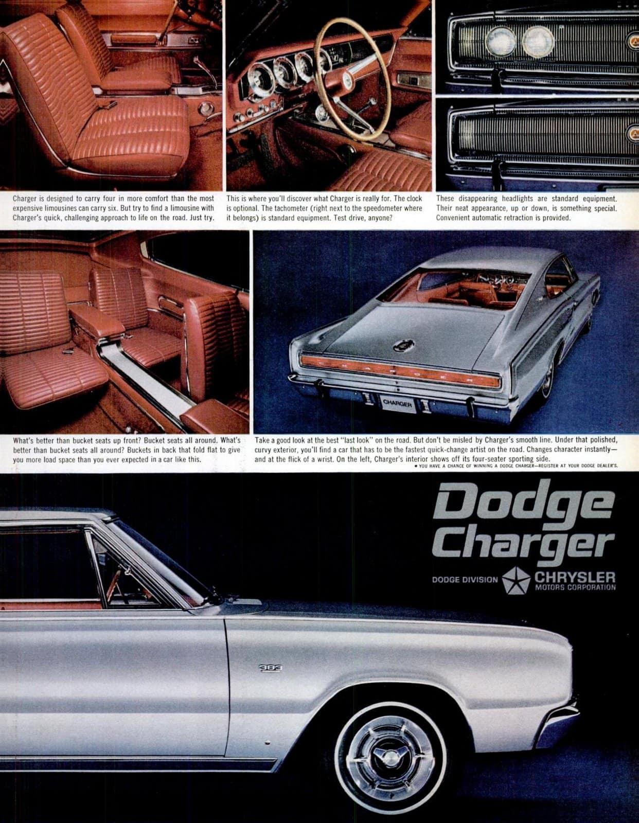 Jan 7, 1966 vintage Dodge Charger cars