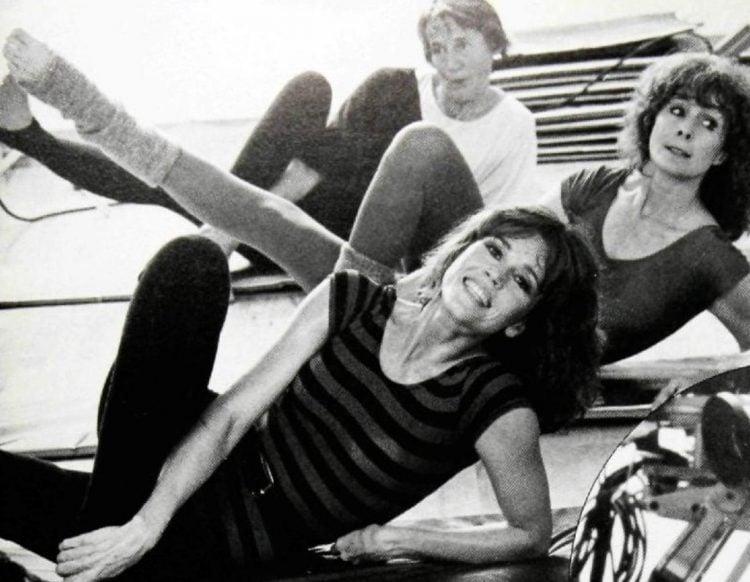 Jane Fonda exercise class 1985