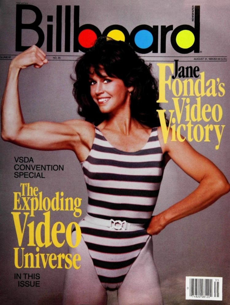 Jane Fonda on the cover of Billboard magazine (1985)
