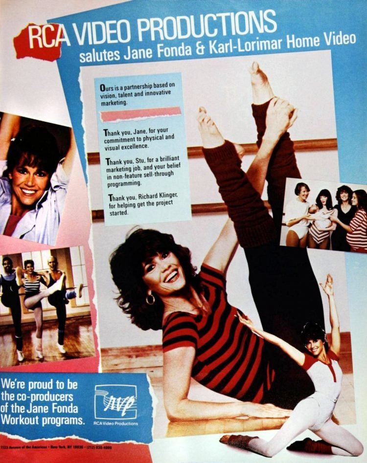 Jane Fonda vintage Workout program - home video from the 80s