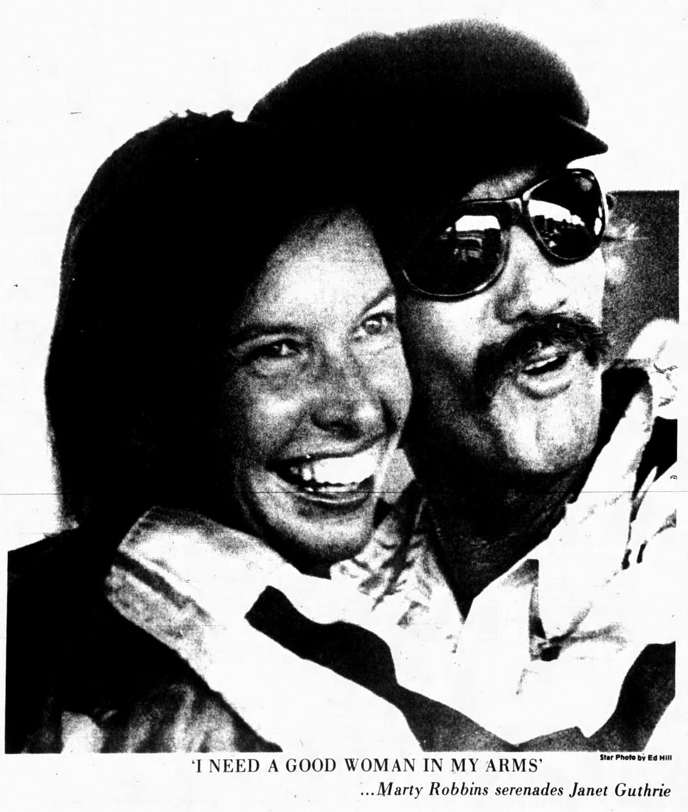 Janet Guthrie and Marty Robbins - August 5, 1977