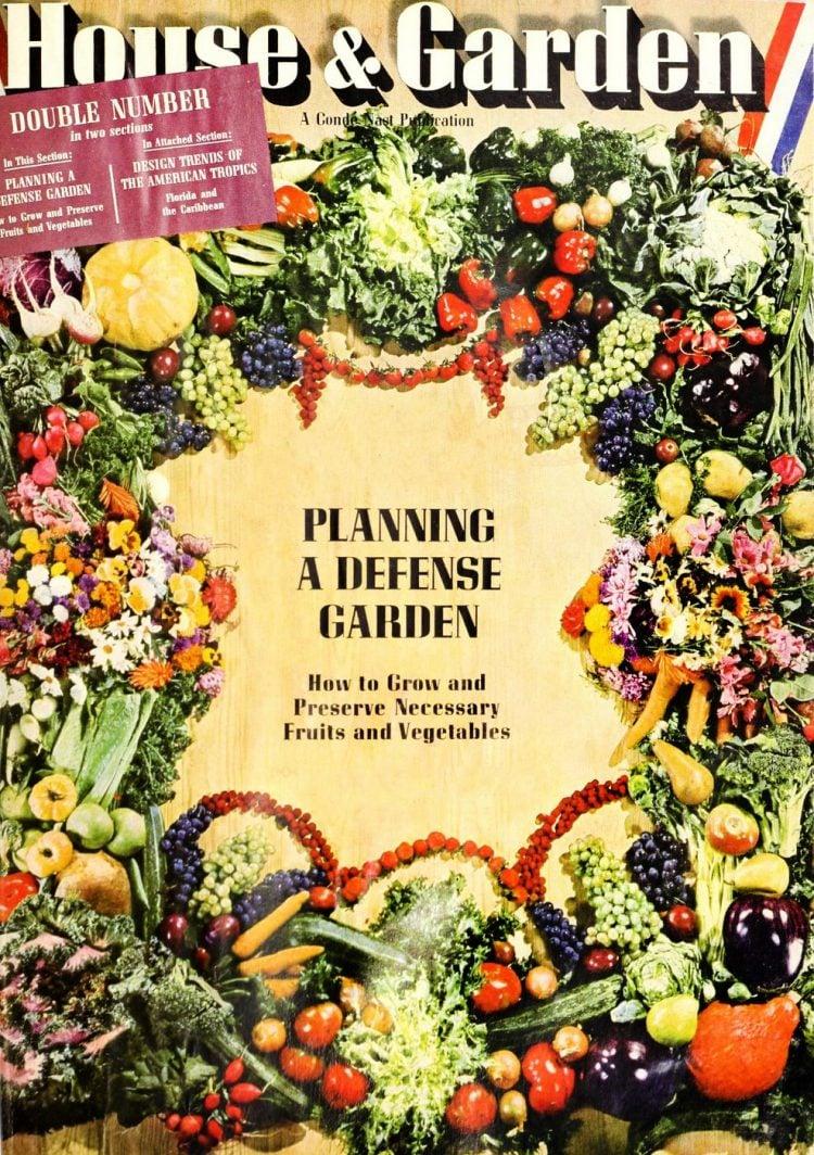 January 1942 - Planning a defense garden