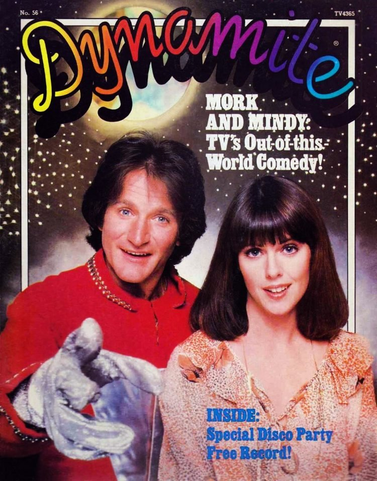 January 1979 Dynamite cover - Mork and Mindy
