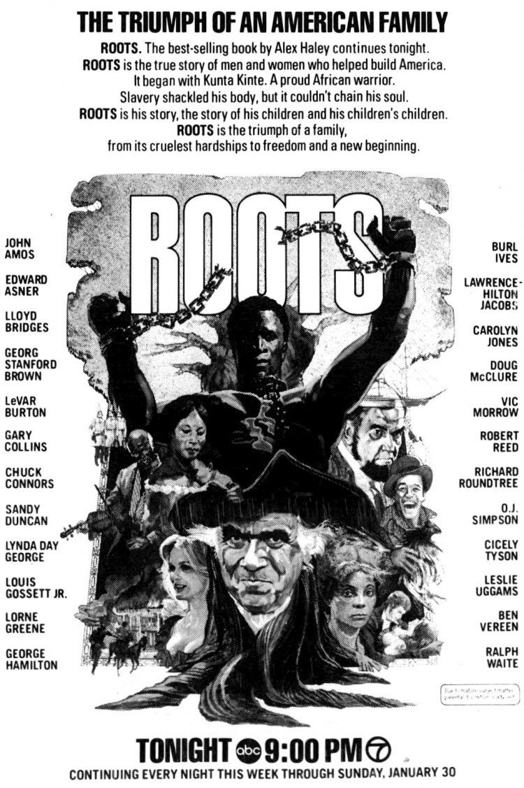 January 24 1977 - LA Times - Roots miniseries