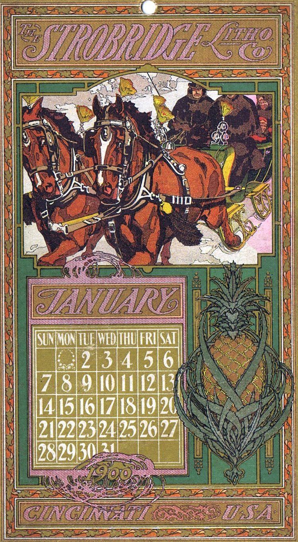 January calendar 1900