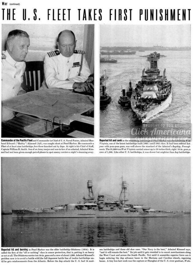 Japan attacks Pearl Harbor - WWII - Life Dec 1941 (2)