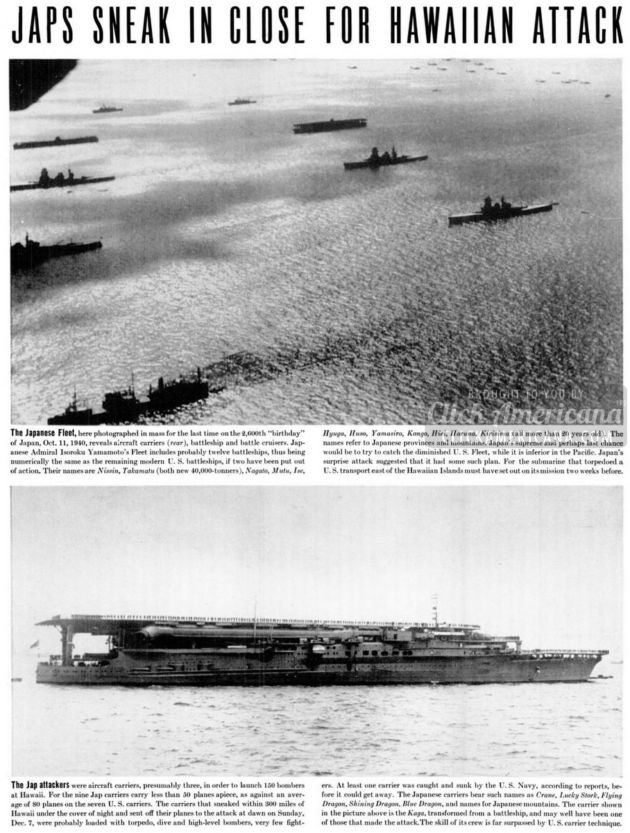 Japan attacks Pearl Harbor - WWII - Life Dec 1941 (3)
